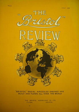 Cover of Bristol Review promoting world-beating Bristol engines, 1931 (Bristol Aero Collection).