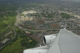 View of Clifton from A380 (Airbus).