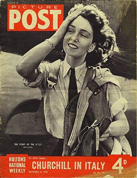 ATA First Officer Maureen Dunlop on the cover of the September 1944 edition of 'Picture Post'.