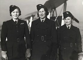 Three of the first of eight women pilots to join the ATA in January 1940: Pauline Gower, Winifred Crossley and Margaret Cunnison.