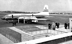 Bristol Britannia which landed on opening day at Lulsgate, bringing various VIPs and dignitaries.
