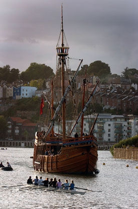 Replica of the Matthew at Bristol, 2005 (Destination Bristol, photograph by Graham Flack).