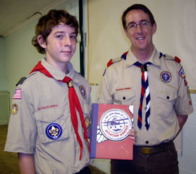 Two members of Boy Scouts of America who were visiting Brunel District when the book was launched.