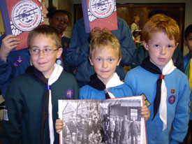 Members of Brunel District scouts.