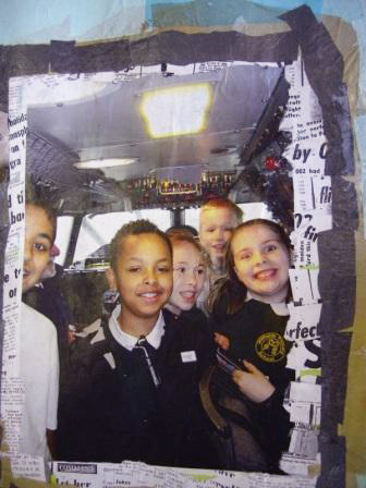 Here's a photo of some of the children on their trip to Concorde added to the collage.