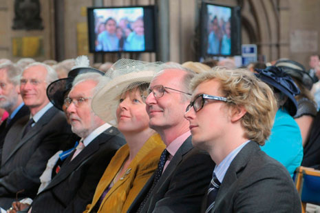 Guests included Sir George and Lady White, seen here in the front row (Airbus).
