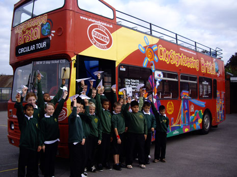 City Sightseeing Bristol Brings Pupils to Flight.