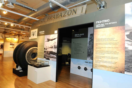 The Brabazon wheels and part of the fuselage outside the bunker entrance.