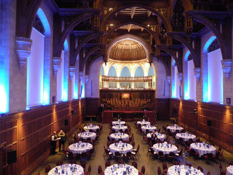 A dinner was held in the Great Hall at the university on 12 November to thank some of those who have contributed to the BAC 100 programme this year.