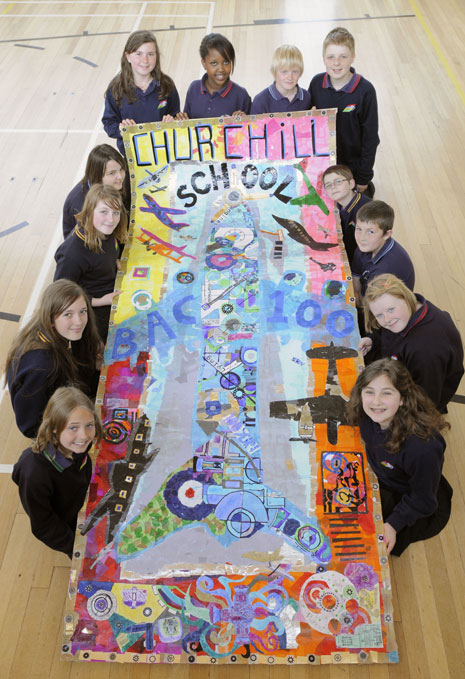 Here's the collage made by Churchill Community School.