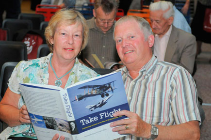 The photograph shows Dave and Bernice at the launch of the BAC 100 books in July 2010.