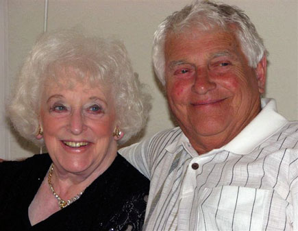 The colour photograph is of Harold and his wife celebrating her 80th birthday in the Canary Islands in 2010.