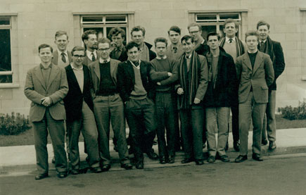 The black and white photograph shows Michael with his class at Bristol Technical College which was taken in 1960, the year they completed their apprenticeship in 1960.