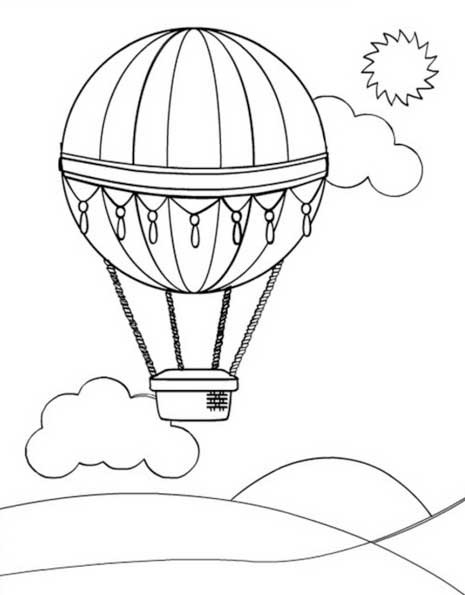 Balloon Colouring Sheets