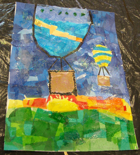 Year 6 had a BAC 100 science workshop in March and in May they had a half-day collage-making workshop.