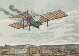 Artist's impression of Henson's Aerial Steam Carriage reproduced in M J B Davy's Henson and Stringfellow, 1931.